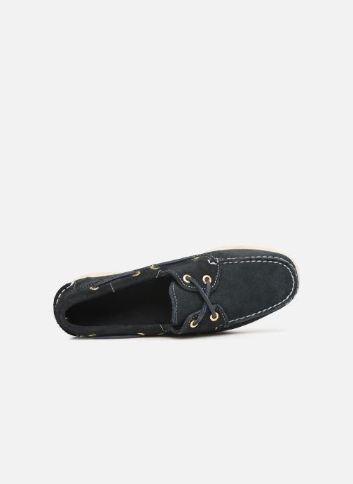 Chaussures à lacets Sebago Docksides Portland Suede W Bleu vue gauche