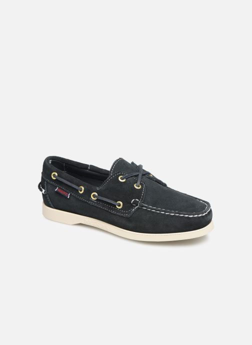 cab81322799 Lace-up shoes Sebago Docksides Portland Suede W Blue detailed view  Pair  view