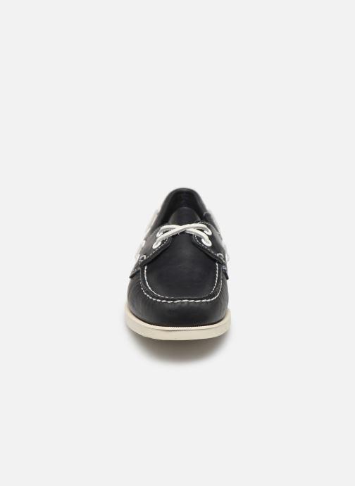 Chaussures à lacets Sebago Docksides Portland W Bleu vue portées chaussures