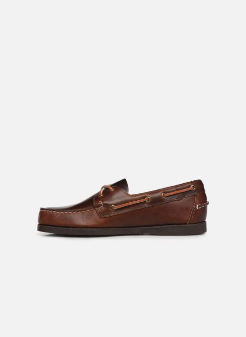Chaussures à lacets Sebago Docksides Portland Waxed Marron vue face