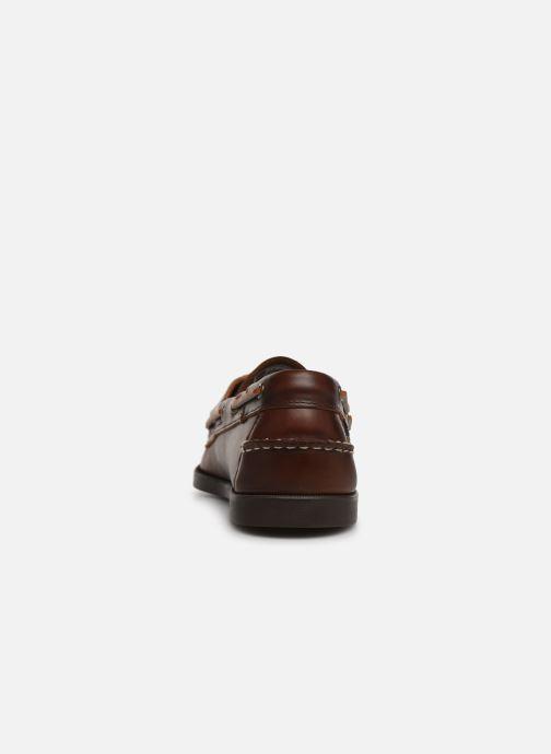 Chaussures à lacets Sebago Docksides Portland Waxed Marron vue droite