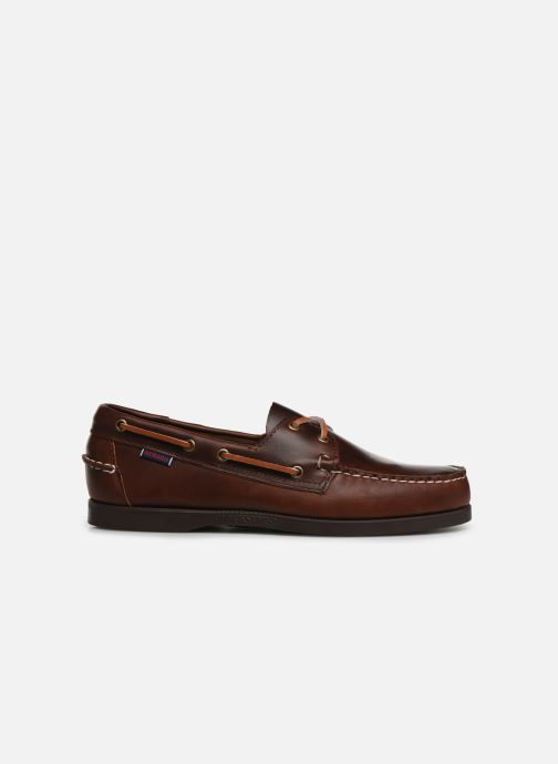 Chaussures à lacets Sebago Docksides Portland Waxed Marron vue derrière