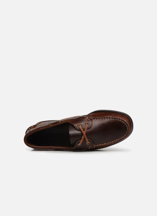 Chaussures à lacets Sebago Docksides Portland Waxed Marron vue gauche