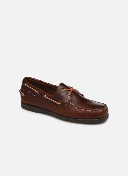 Chaussures à lacets Sebago Docksides Portland Waxed Marron vue détail/paire