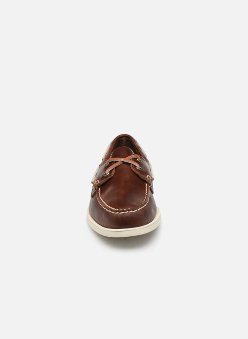 Lace-up shoes Sebago Docksides Portland Waxed Brown model view