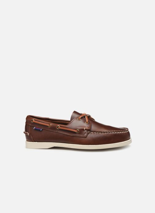 Lace-up shoes Sebago Docksides Portland Waxed Brown back view