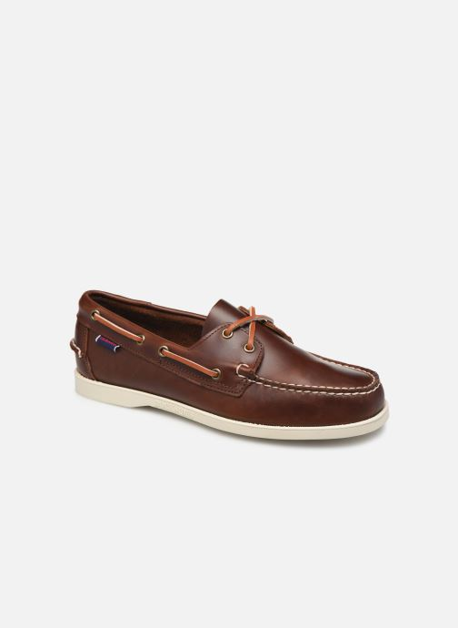 Lace-up shoes Sebago Docksides Portland Waxed Brown detailed view/ Pair view