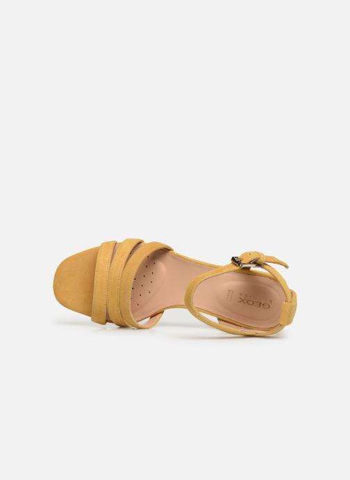 Sandales et nu-pieds Geox D SEYLA SAN D D92DUD Jaune vue gauche