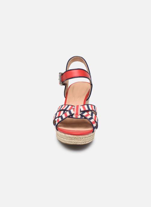 Espadrilles Geox D SOLEIL B D92N7B Rouge vue portées chaussures
