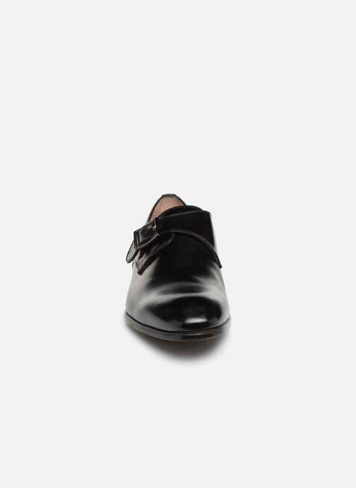 Mocassins Santoni Simon 14550 Noir vue portées chaussures