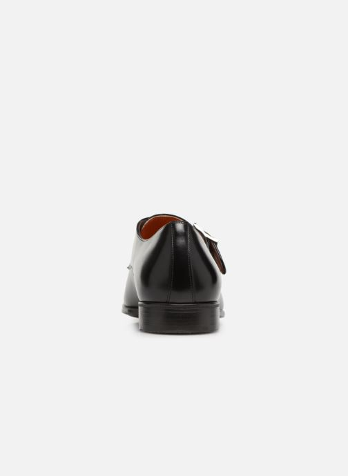 Mocasines Santoni Simon 14550 Negro vista lateral derecha