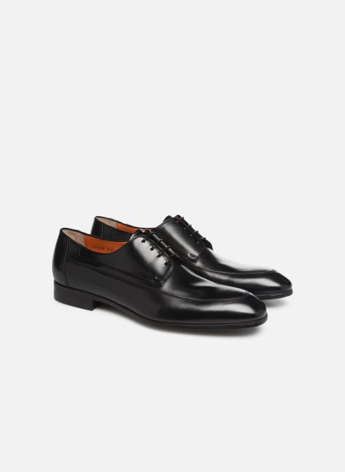 Chaussures à lacets Santoni Simon 16620 Noir vue 3/4