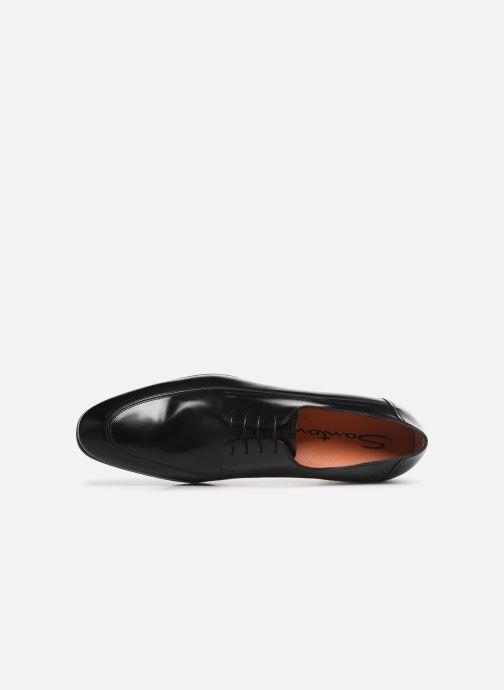 Chaussures à lacets Santoni Simon 16620 Noir vue gauche