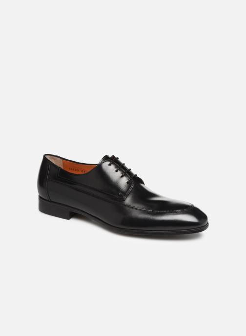 Zapatos con cordones Santoni Simon 16620 Negro vista de detalle / par