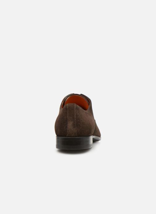 Chaussures à lacets Santoni William 12381 Nubuck Marron vue droite