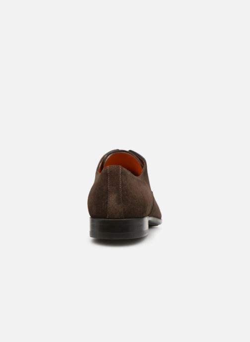 Lace-up shoes Santoni William 12381 Nubuck Brown view from the right