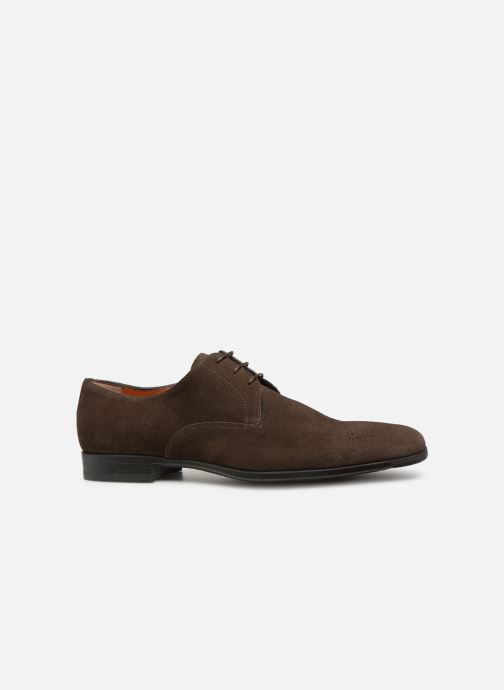 Veterschoenen Santoni William 12381 Nubuck Bruin achterkant