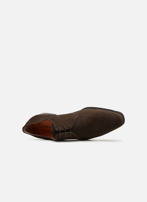 Lace-up shoes Santoni William 12381 Nubuck Brown view from the left