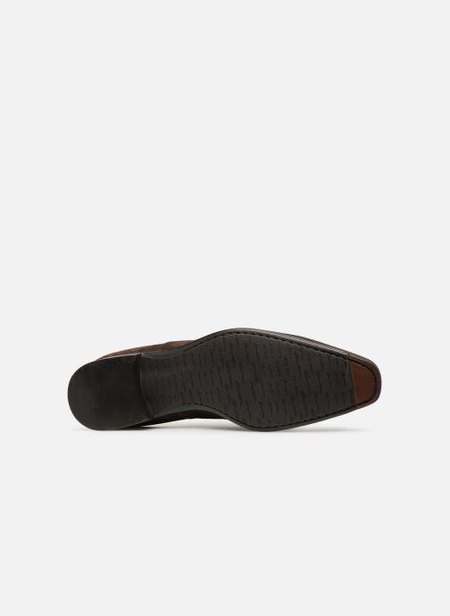 Chaussures à lacets Santoni William 12381 Nubuck Marron vue haut
