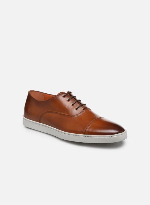 Sneakers Santoni Atlantis 15019 Bruin detail