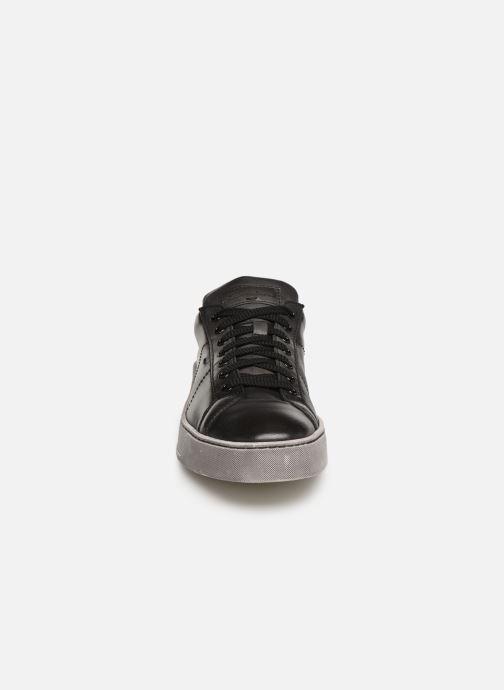 Baskets Santoni Gloria 2 Gris vue portées chaussures