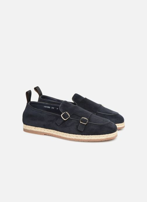 Loafers Santoni Milo Blue 3/4 view