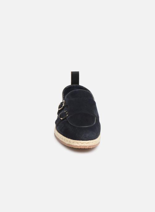 Mocassins Santoni Milo Bleu vue portées chaussures