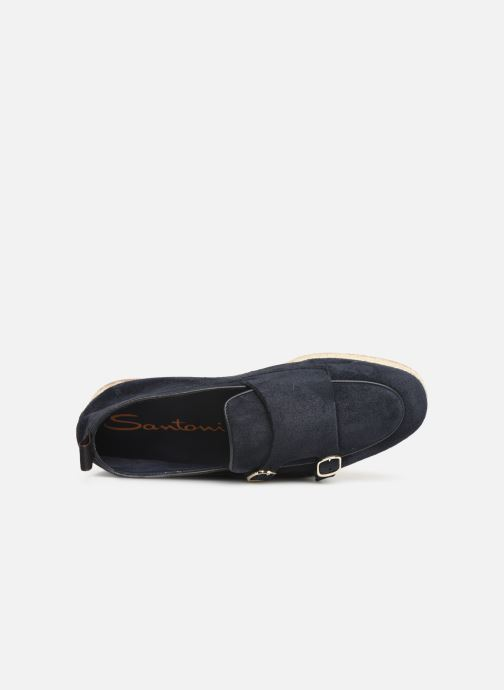 Loafers Santoni Milo Blue view from the left
