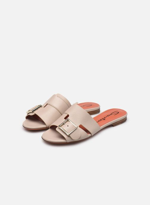 Clogs & Pantoletten Santoni Brigitte Flat beige ansicht von unten / tasche getragen