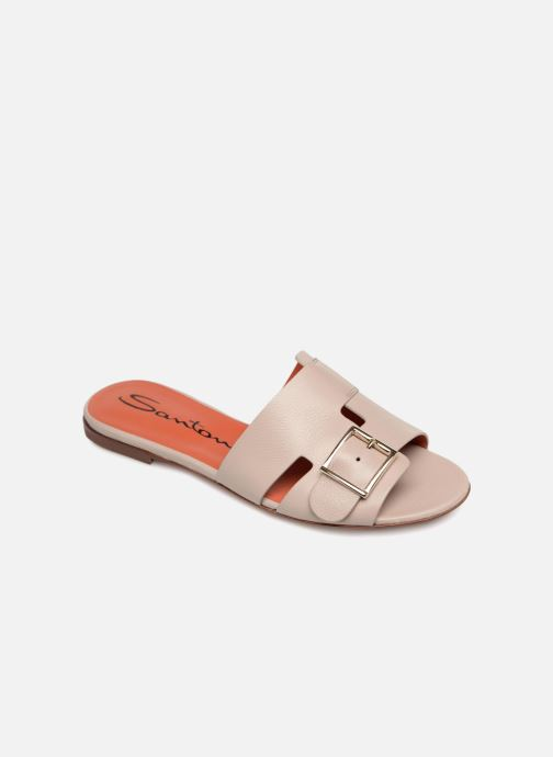 Clogs & Pantoletten Santoni Brigitte Flat beige detaillierte ansicht/modell