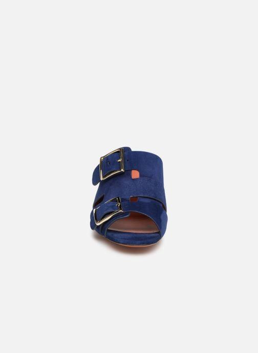 Mules et sabots Santoni Manet 50 Bleu vue portées chaussures