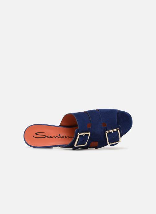Mules et sabots Santoni Manet 50 Bleu vue gauche