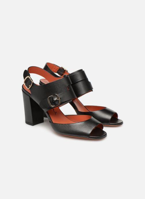 Sandales et nu-pieds Santoni Manet 85 Noir vue 3/4