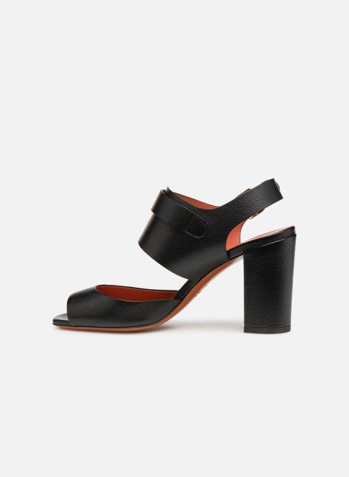 Sandales et nu-pieds Santoni Manet 85 Noir vue face