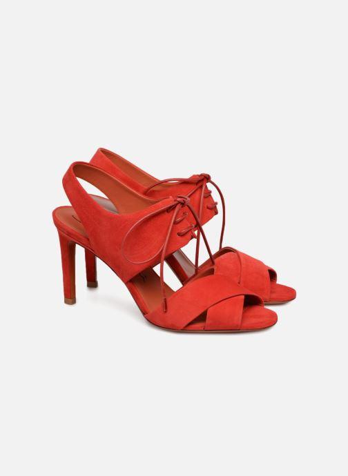 Sandales et nu-pieds Santoni Emi 85 Rouge vue 3/4