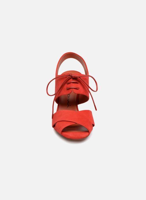 Sandalias Santoni Emi 85 Rojo vista del modelo