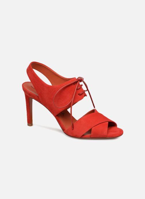 Sandals Santoni Emi 85 Red detailed view/ Pair view