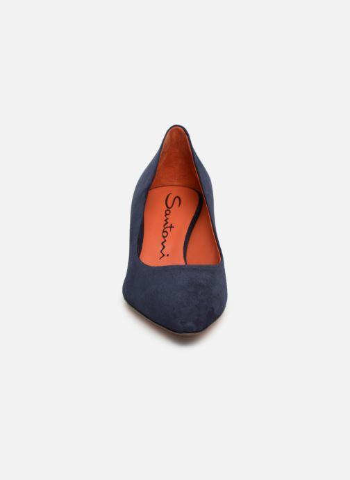 Escarpins Santoni Mina 50 Bleu vue portées chaussures