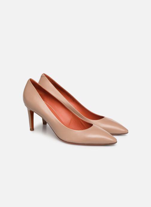 High heels Santoni Mina 70 Beige 3/4 view