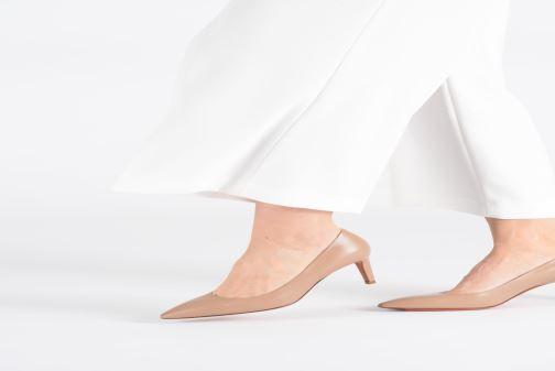 High heels Santoni Mina 70 Beige view from underneath / model view