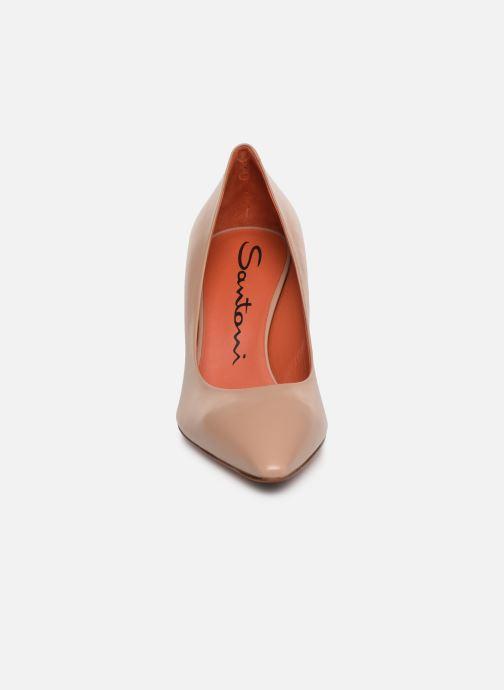Escarpins Santoni Mina 70 Beige vue portées chaussures