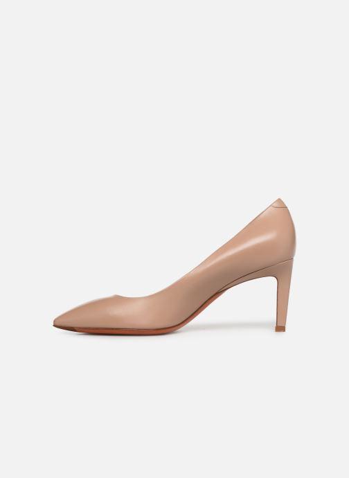 High heels Santoni Mina 70 Beige front view