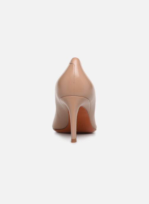 High heels Santoni Mina 70 Beige view from the right