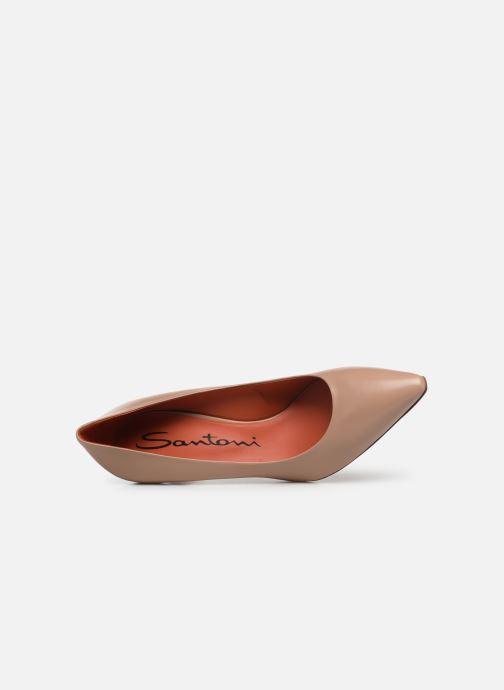 High heels Santoni Mina 70 Beige view from the left