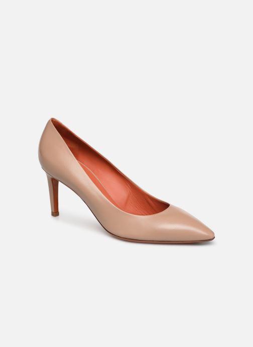 High heels Santoni Mina 70 Beige detailed view/ Pair view