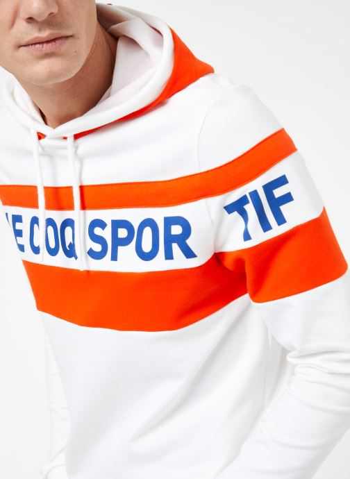 Kleding Le Coq Sportif ESS SAISON Hoody N°2 M Wit voorkant