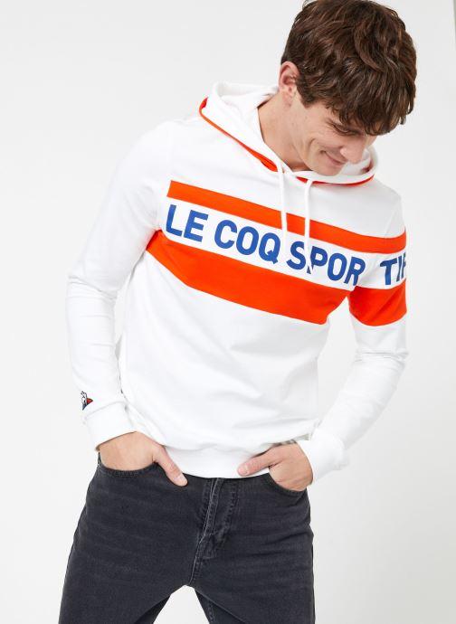 Kleding Le Coq Sportif ESS SAISON Hoody N°2 M Wit rechts