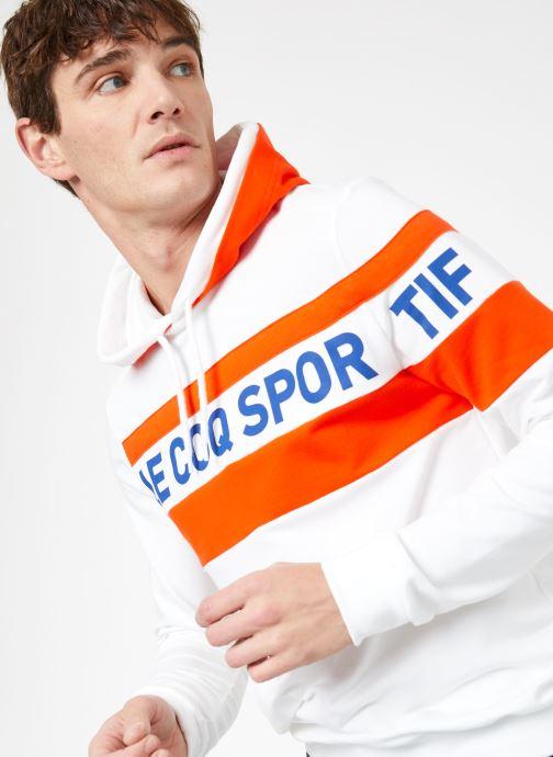 Kleding Le Coq Sportif ESS SAISON Hoody N°2 M Wit detail