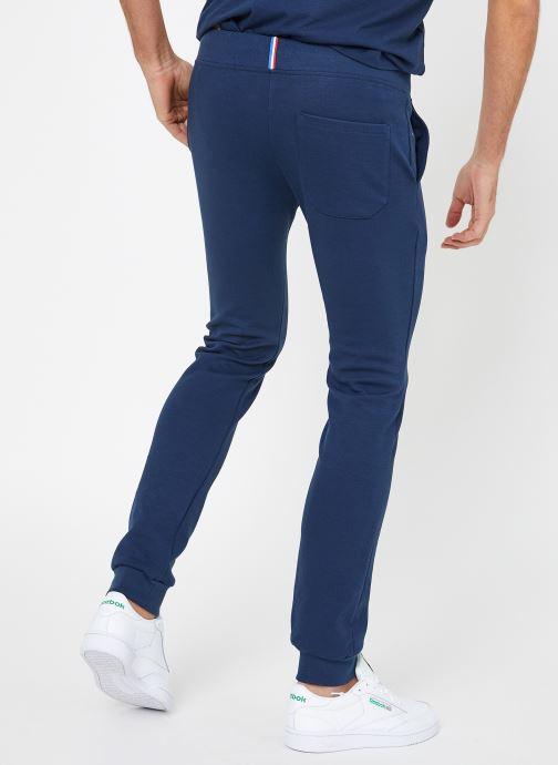 Vêtements Le Coq Sportif ESS Pant Slim N°1 M Bleu vue portées chaussures
