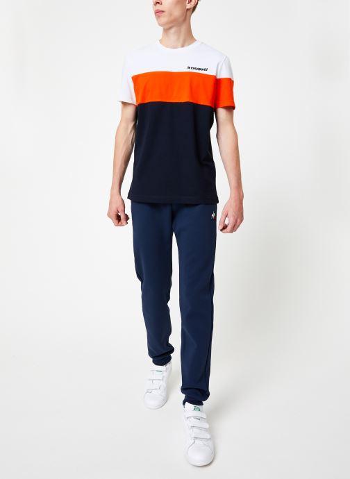 Vêtements Le Coq Sportif ESS Pant Slim N°1 M Bleu vue bas / vue portée sac